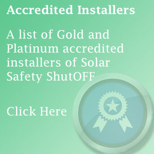 Solar Safety ShutOFF: Accredited installers